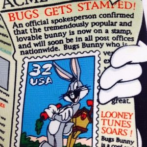 1997 Looney Tunes Bugs Bunny Tie Stamp Collection